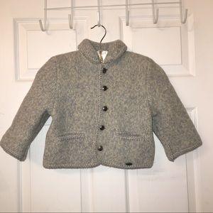 EUC Giesswein 100% wool knit infant jacket